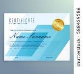 elegant blue certificate design