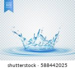isolated water splash effect on ... | Shutterstock .eps vector #588442025