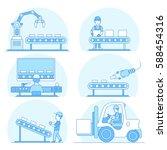 linear flat industrial... | Shutterstock .eps vector #588454316