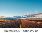 Open Highway In California  Usa.