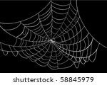 illustration with spider web... | Shutterstock .eps vector #58845979