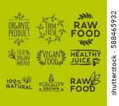 hand drawn retro set of organic ... | Shutterstock .eps vector #588465932