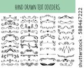 set of vector hand drawn text... | Shutterstock .eps vector #588467222