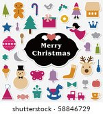 vector illustration   set of... | Shutterstock .eps vector #58846729
