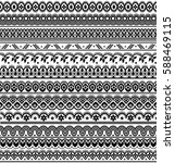 vector set of floral elements.... | Shutterstock .eps vector #588469115