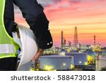 engineering man with white... | Shutterstock . vector #588473018