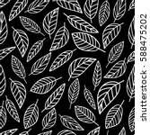 seamless pattern graphic leaves ... | Shutterstock .eps vector #588475202