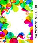 eps10. editable cheerful... | Shutterstock .eps vector #58847818