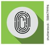 fingerprint vector icon | Shutterstock .eps vector #588479996