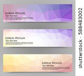 abstract colorful set of shiny... | Shutterstock .eps vector #588483002