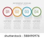 circle shape infographic design ... | Shutterstock .eps vector #588490976