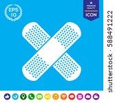 cross adhesive bandage  medical ... | Shutterstock .eps vector #588491222