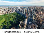 aerial view of central park and ... | Shutterstock . vector #588492296