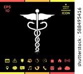 caduceus medical symbol   Shutterstock .eps vector #588495416