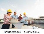 multiethnic diverse group of... | Shutterstock . vector #588495512