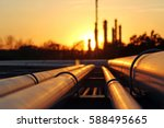 crude oil refinery during... | Shutterstock . vector #588495665