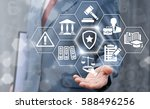 law insurance and security... | Shutterstock . vector #588496256