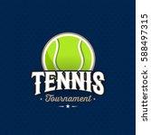 modern professional tennis... | Shutterstock .eps vector #588497315