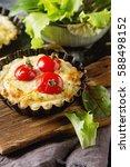 tomato quiche with wine  the... | Shutterstock . vector #588498152