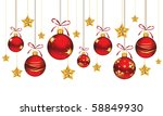 red christmas ornaments | Shutterstock .eps vector #58849930