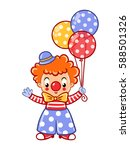 circus clown illustration... | Shutterstock .eps vector #588501326