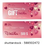 gift voucher coupon discount... | Shutterstock .eps vector #588502472