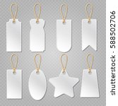 blank baggage labels  white... | Shutterstock .eps vector #588502706