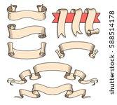 vector ribbon set. celebration... | Shutterstock .eps vector #588514178