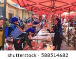 yuanyang  china   february 21 ... | Shutterstock . vector #588514682