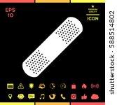 medical  plaster  adhesive... | Shutterstock .eps vector #588514802
