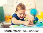 child play modeling plasticine. ... | Shutterstock . vector #588520052
