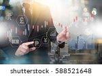 financial forex stock market ... | Shutterstock . vector #588521648
