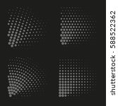 vector halftone dots. abstract... | Shutterstock .eps vector #588522362