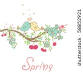 romantic spring card