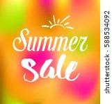summer sale background | Shutterstock .eps vector #588534092