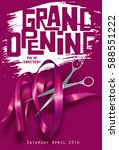 grand opening background with ... | Shutterstock .eps vector #588551222