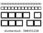 film strip vector . realistic... | Shutterstock .eps vector #588551228