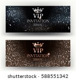 vip elegant invitation cards... | Shutterstock .eps vector #588551342