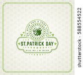 saint patricks day retro... | Shutterstock .eps vector #588554522