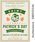 saint patricks day retro... | Shutterstock .eps vector #588555146