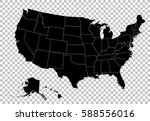map of the united states of... | Shutterstock .eps vector #588556016