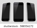 smartphone realistic to isolate ... | Shutterstock .eps vector #588556172
