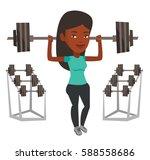 african american sporty woman... | Shutterstock .eps vector #588558686