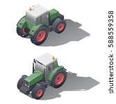 agricultural tractors isometric ... | Shutterstock .eps vector #588559358
