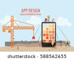 mobile application development... | Shutterstock .eps vector #588562655