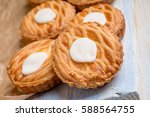 whole wheat tarts with... | Shutterstock . vector #588564755