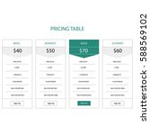 pricing table. four mockups... | Shutterstock .eps vector #588569102