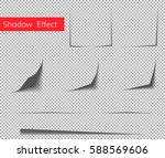 paper curl shadow effect .... | Shutterstock .eps vector #588569606