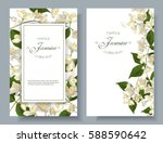 vector jasmine flower banners.... | Shutterstock .eps vector #588590642