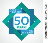 50 years anniversary...   Shutterstock .eps vector #588593768